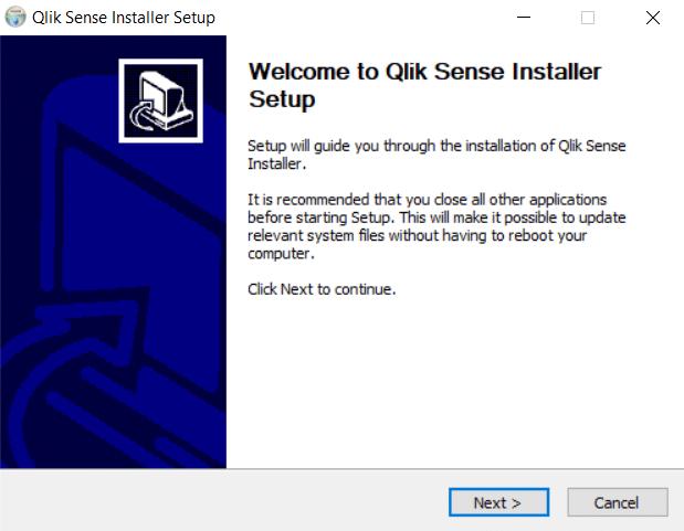 Qlik Installer - Qlik Sense setup
